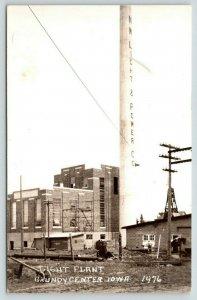 Grundy Center IA~NW Light & Power Co Under Construction~Scaffolding~RPPC c1910