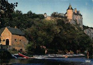 Belgium Walzin s/Lesse Chateau et le Barrage Castle Postcard