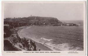 Yorkshire; Harbour & Bay From Crown Hotel, Scarborough RP PPC, 1926 PMK