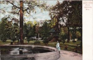 Wisconsin Appleton View In City Park 1906