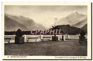 Argeles Gazost Old Postcard The terrace and my Barrèges mountains