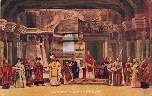 Religious Postcard Christ Before Herod Unused