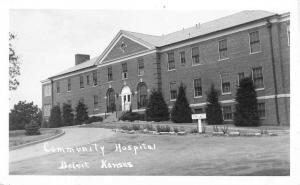 Beloit Kansas Community Hospital Real Photo Antique Postcard K94826