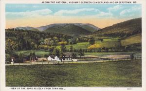 Along The National Highway Between Cumberland & Hagerstown, Maryland, 1910-1920s