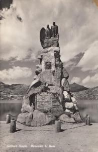 Switzerland, Suisse, Gotthard-Hospiz, Monument A. Guex, unused real photo