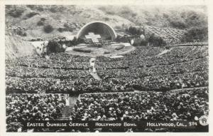 RP: HOLLYWOOD , California , 1930-40s ; Hollywood Bowl , EASTER Service -2