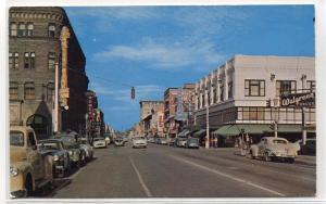 Idaho Street Scene Cars Walgreen Drug Store Boise ID 1950s postcard