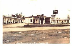 Bellingham WA Chevron Gas Station Pumps Diggs Motel RPPC Postcard