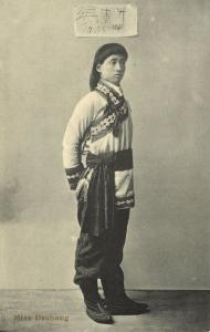 china, Chinese Circus Acrobat Miss Dschang (1910s)