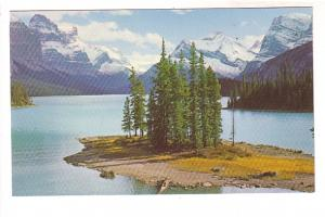Maligne Lake, Spirit Island, Canadian Rockies, Photo W J L Gibbons