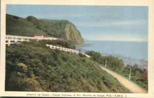 Gaspe Highway at Ste. Marthe de Gaspe QC, Quebec, Canada - WB