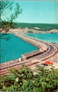 Canso Causeway Halifax NS Canada Postcard used 1957