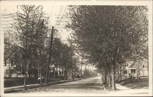 Rutherford NJ Home Ave c1910 Real Photo Postcard