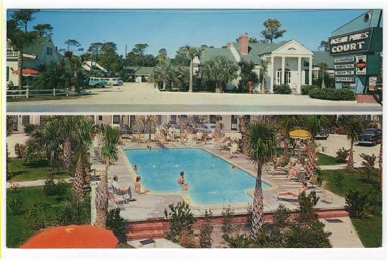 Myrtle Beach, South Carolina,  Early Views of Ocean Pines Courts