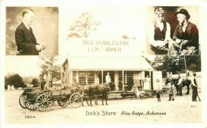 Campbell's Oroajo Dick's Store Pine Ridge Arkansas 1940s RPPC Postcard 5508