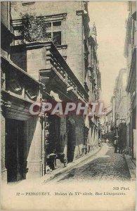 Postcard Old House Street Perigeux Limogeanne