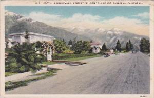 Foothill Boulevard Near Mount Wilson Toll House Pasadena California 1933