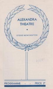 On The Spot Edgar Wallace WW2 Drama Stoke Newington London Theatre Programme