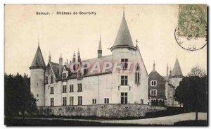 Old Postcard Semur Chateau Bourbilly