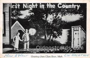 First Night in the Country Clam River, Mich Postcard Post Card Clam River, Mi...