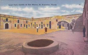 Florida Saint Augustine Court Yard Castillo De San Marcos