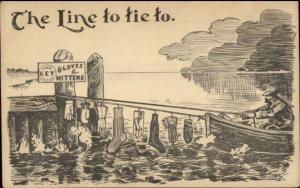 Beloit Glove & Mitten Co - The Line to Tie To c1910 Postcard