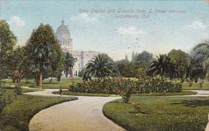 California Sacramento State Capitol And Grounds From L Street Entrance