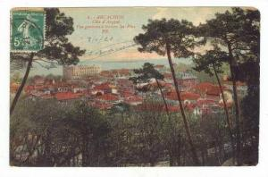 Aerial View of City,Arcachon,France 1921 PU