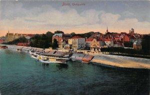 Bonn Rheinpartie River Boats Promenade Panorama Postcard