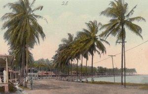 PANAMA, 1900-10s; Causeway edging Panama Bay