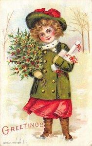 Christmas 1909 light postal marking bottom edge