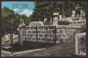 Tomb of Wild Bill,Mt Moriah Cemetery,Deadwood,SD Postcard