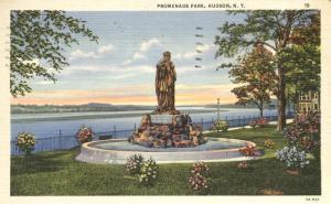 Promenade Park - Hudson NY, New York - Linen - pm 1936