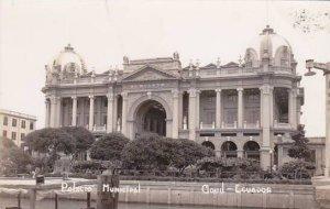 Ecuador Gquil Palacio Municipal Real Photo RPPC