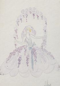 Folies Bergere Costumes Lilac Zig Mistinguette Postcard