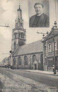 GLOUCESTER, England, 1900-10s ; Rev JJ Luce (Vicar) & St Nicholas church