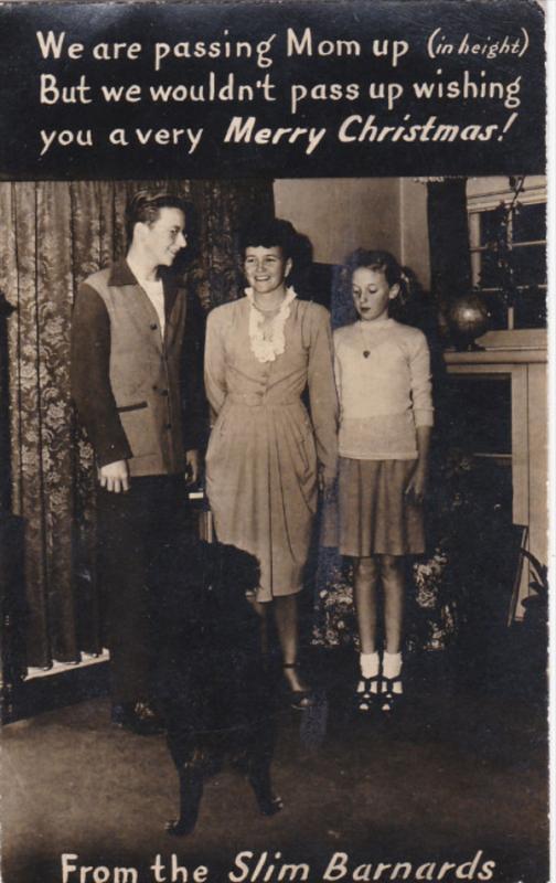 RP: Slim Barnards Christmas Greeting postcard , GLENDALE , California , PU-1944