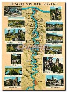Postcard Modern Die Mosel von Trier - Koblenz