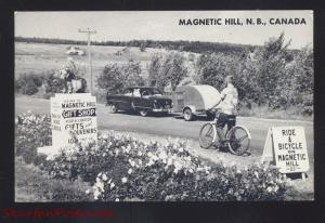 MAGNETIC HILL NEW BRUNSWICK CANADA BICYCLE 1950's CARS