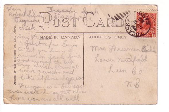Victoria Ave Regina, Saskatchewan, Tugaske Cork Cancel, Heliotype Co