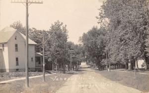 Oregon Wisconsin~Janesville Street~Houses on Both Sides~Dirt Road~c1912 RPPC