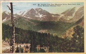 Colorado Rocky Mountain National Park Mount Ypsilon From Deer Mountain Drive ...