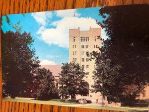 Bloomington, Indiana University Memorial Union Building, Campus, Chrome Postcard