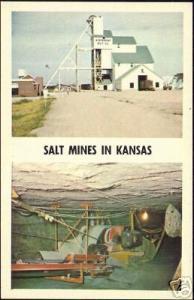 Kansas, Hutchinson, Lyons, Kanopolis, SALT MINES 1950s