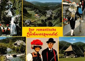 Der romantische Schwarzwald, Traditional Costumes Waterfall House Panorama