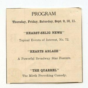 Program Hearst-Selig News Hearts Ablaze The Quarrel  Vintage Advertisement