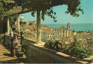 Portugal, Lisbon, Lisboa, Saint Luzia Watchtower, Alfama, unused Postcard