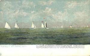 Yachting Atlantic City NJ Writing On Back