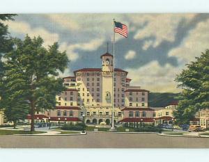 Linen OLD CARS & BROADMOOR HOTEL Colorado Springs Colorado CO u8901