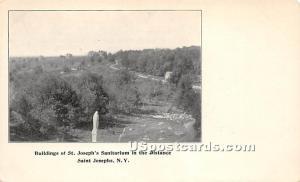 Buildings of St Joseph's Sanitarium in the Distance Saint Josephs NY Unused
